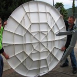 Trial Assembly of 1.8M Dish at Workshop